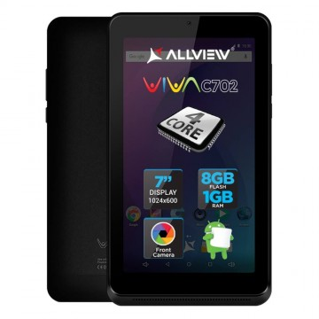 Tableta Allview Viva C702, 7?, 8GB, Quad-Core, Negru 1