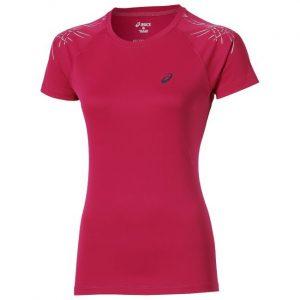 Tricou Alergare, Asics, Stripe Top Running L2, Roz, Femei
