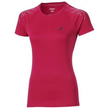 Tricou Alergare, Asics, Stripe Top Running L2, Roz, Femei 1