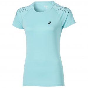 Tricou Alergare, Asics, Stripe Top Running L2, Turcoaz, Femei