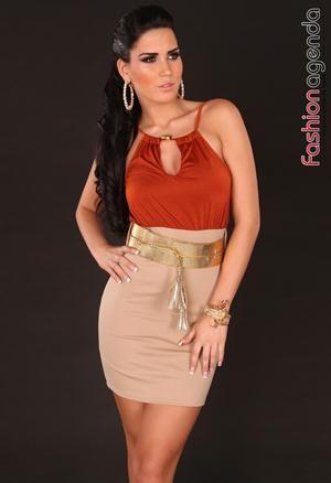 Rochie cu Curea Serenade Orange