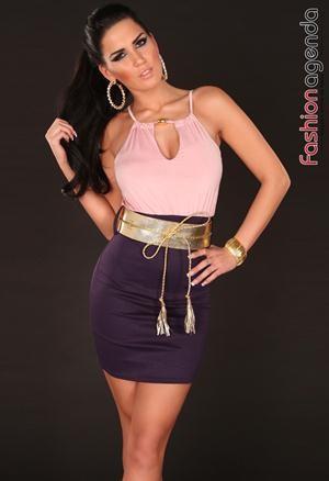 Rochie cu Curea Serenade Pink