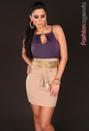 Rochie cu Curea Serenade Purple