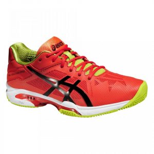 Pantofi Tenis, Asics, Gel-Solution Speed 3 Clay Tennis, Portocaliu-Verde, Barbati