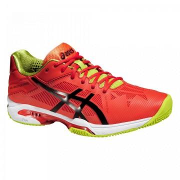 Pantofi Tenis, Asics, Gel-Solution Speed 3 Clay Tennis, Portocaliu-Verde, Barbati 1