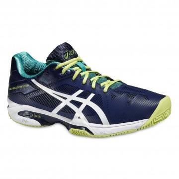 Pantofi Tenis, Asics, Gel-Solution Speed 3 Clay Tennis, Albastru-Alb-Verde, Barbati 1