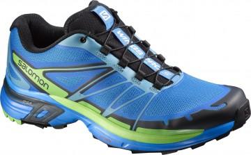 Pantofi Alergare Montana,Inspiratie S-Lab Salomon, Albastru-Verde 1