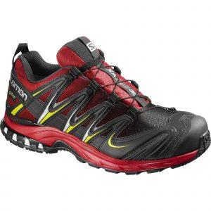 Pantofi alergare XA PRO 3D GORE-TEX, Salomon, Barbati, Negru-Rosu