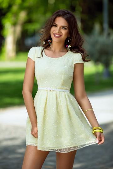 Rochie Yolanda Galbena 1